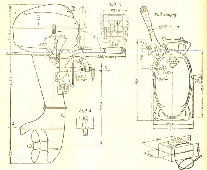 лодочные моторы москва-30 руководство